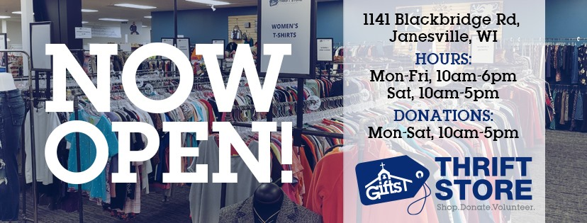 Gifts Men's Shelter Thrift Store Now Open!